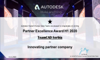 TeamCAD Won The AUTODESK PARTNER EXCELLENCE AWARD For Innovation